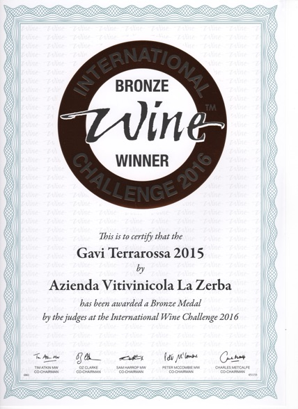 Podio per il Gavi Terrarossa 2015 al prestigioso International Wine Challenge 2016, dove si sono confrontati vini bianchi provenienti da tutto il mondo.